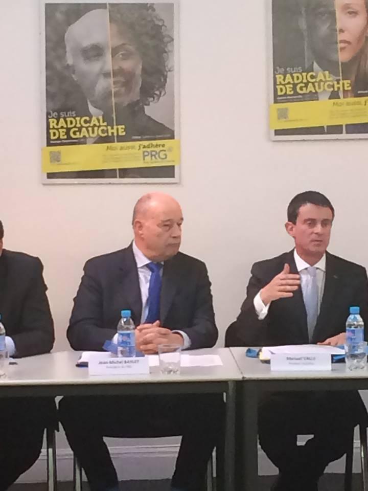 Manuel Walls, premier ministre, lors du Bureau national du PRG